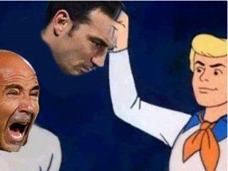 saravia, armani, pizarro y scaloni en los memes por la derrota de argentina ante colombia