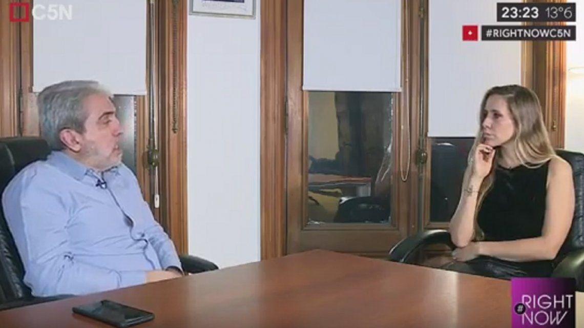 Aníbal Fernández, en Right Now: Me llama la atención que Urtubey no haya sido vice de Macri
