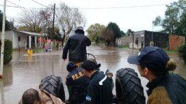 Se agrava la situación en Rosario del Tala por las inundaciones y ya son 170 los evacuados