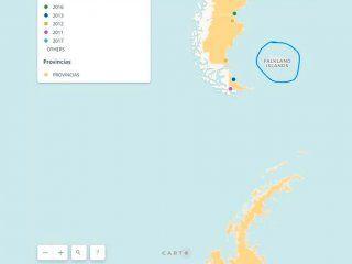 el gobierno publico otro mapa que llama falkland a las malvinas