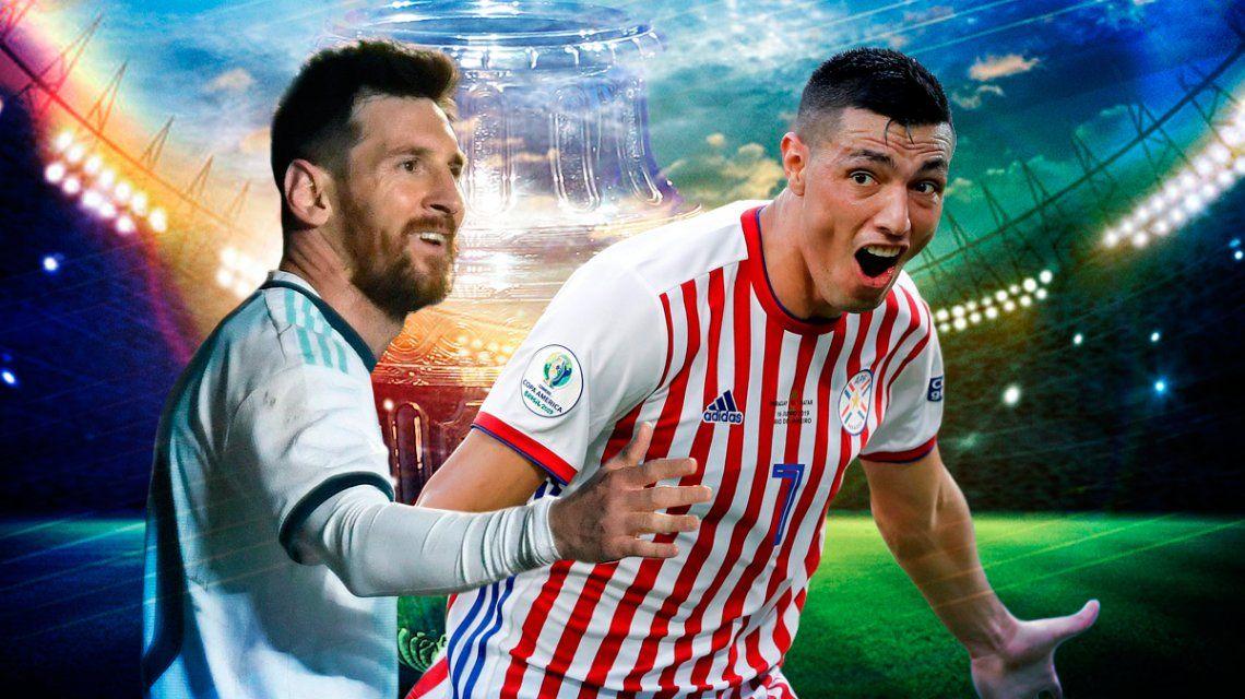 Argentina vs Paraguay por el Grupo B de la Copa América: horario, formaciones y TV