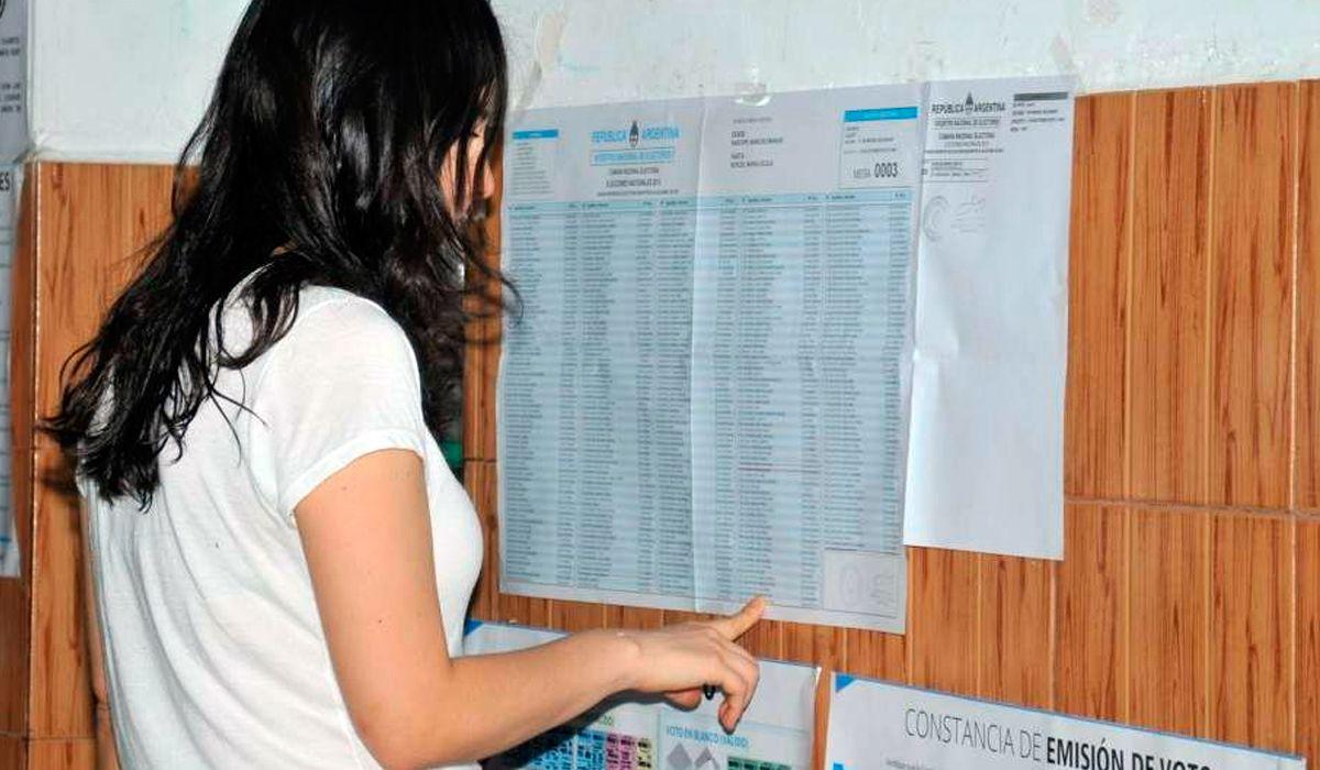 Ya están disponibles los padrones provisorios para que los consulten los jóvenes que no estaban incluidos
