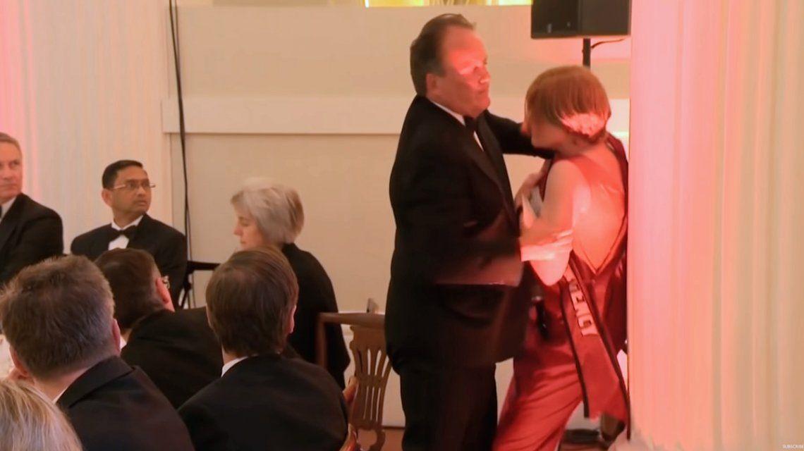 Inglaterra: un diputado conservador agredió a una activista de Greenpeace en medio de una gala