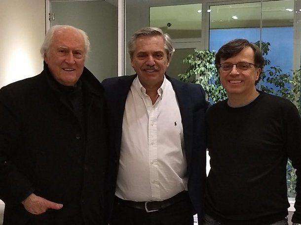 Pino Solanas y Alberto Fernández