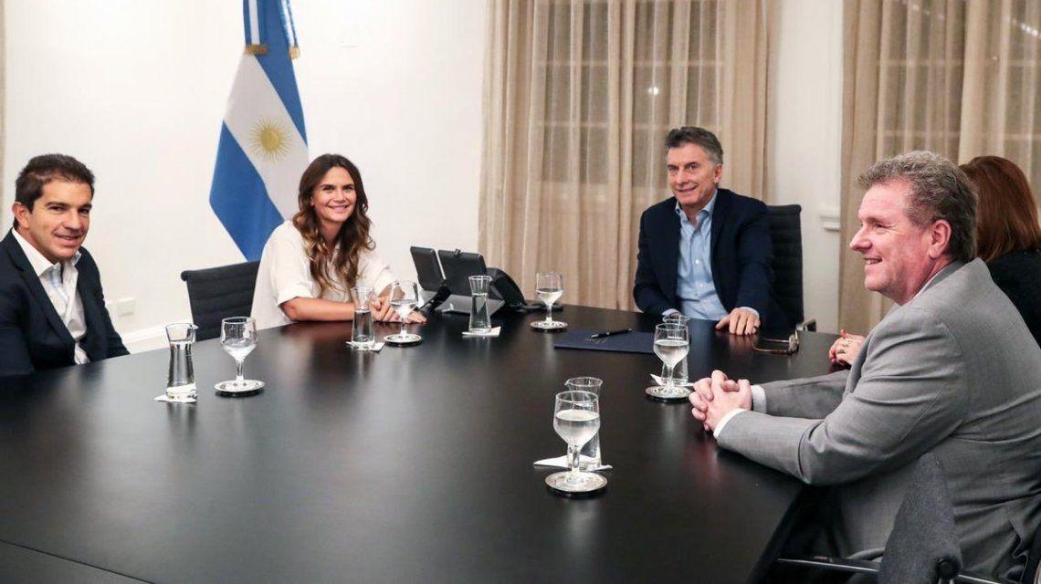 Amalia Granata y Mauricio Macri