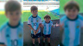 El detalle en una foto de los hijos de Messi que hizo reír a todos