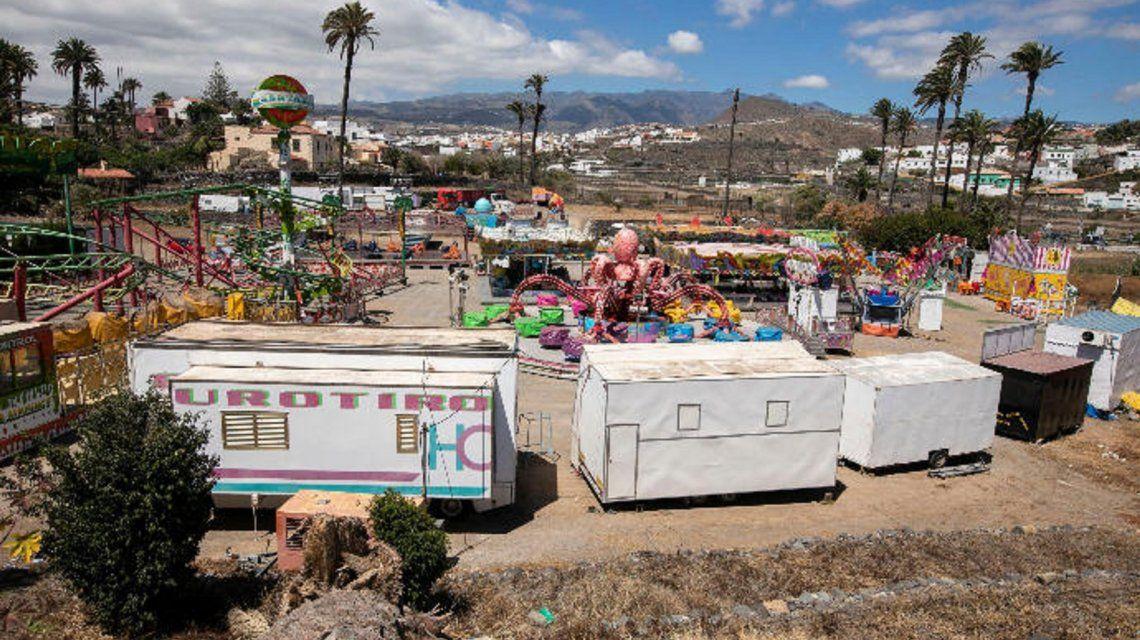 Feria en la hoya de San Juan en Telde en donde se atragantó el niño