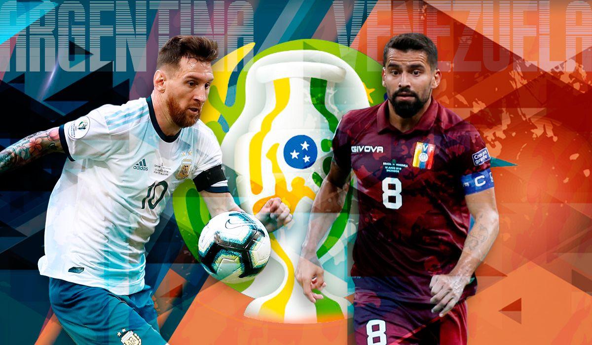 Venezuela vs Argentina por los cuartos de final por Copa América: horario, formaciones y TV