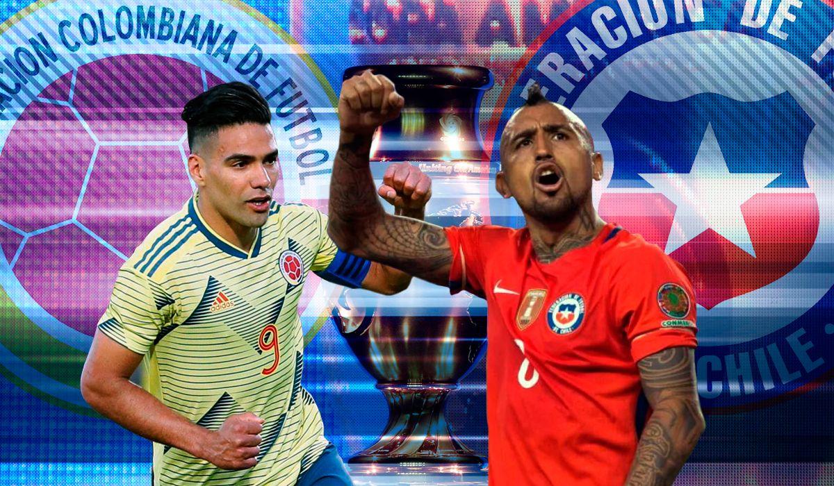 Colombia vs Chile por los cuartos de final por Copa América: horario, formaciones y TV
