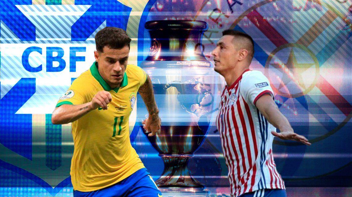 Brasil vs Paraguay por los cuartos de final de la Copa América: horario, formaciones y TV