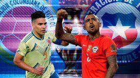 El campeón Chile buscará avanzar frente a la difícil Colombia