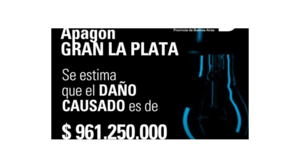 Los vecinos de La Plata seguirán sin luz hasta el jueves: perdieron casi $1000 millones por el corte