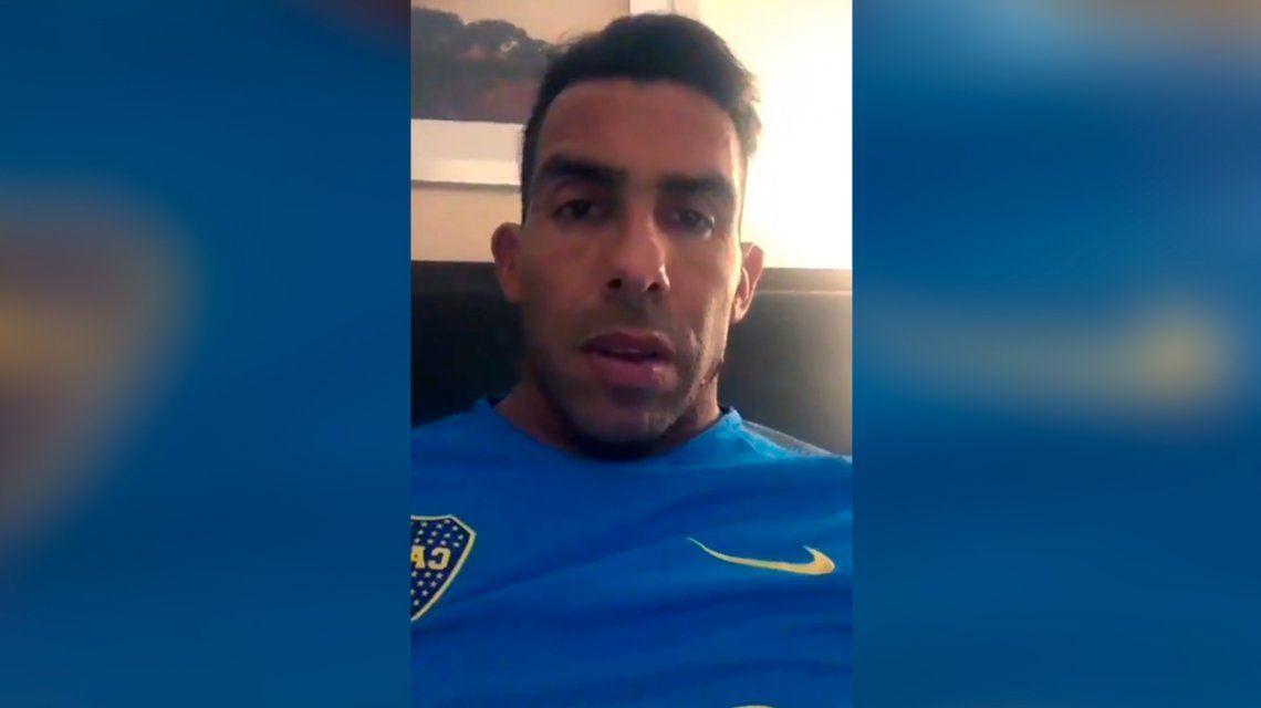 El video de apoyo de Tevez al jugador de Vélez Nazareno Bazán tras su fractura en el pie