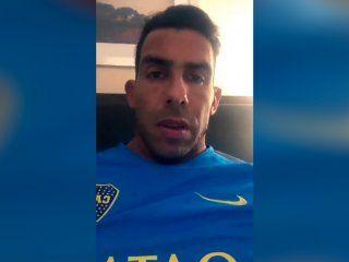 el video de apoyo de tevez al jugador de velez nazareno bazan tras su fractura en el pie