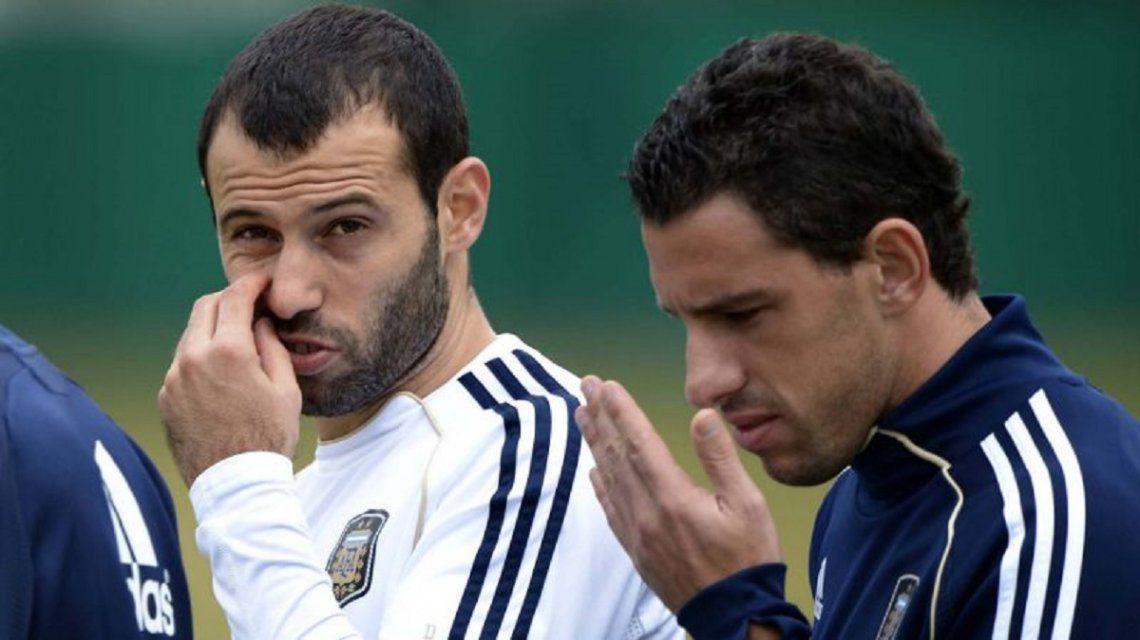 Javier Mascherano y Maxi Rodríguez
