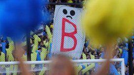 El fantasma de la B en medio de la tribuna de Boca