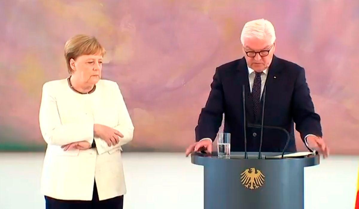 Ángela Merkel volvió a sufrir temblores en un acto en Berlín