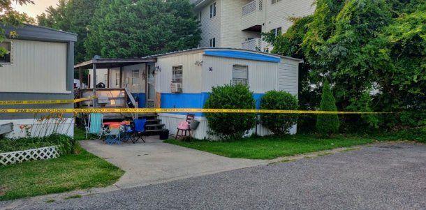 La casa donde Noah vive junto a sus padres, que reportaron su desaparición.