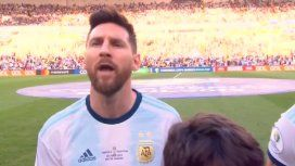 Histórico: Messi cantó el himno como nunca y emocionó a todos