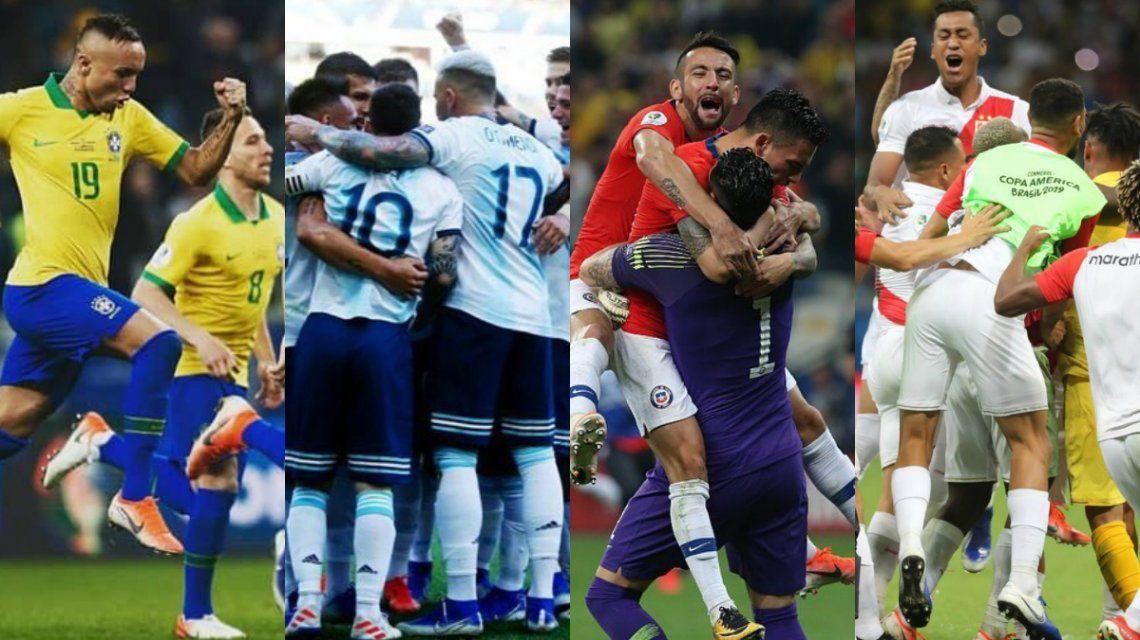 Así quedaron las semifinales de la Copa América