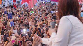 Cristina Kirchner presentó Sinceramente ante una multitud