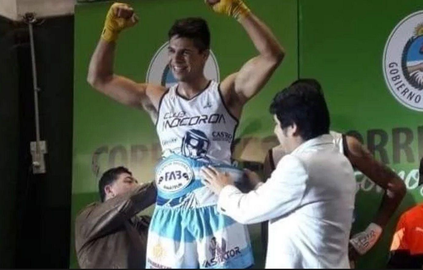 Se consagró campeón argentino de boxeo y a los cuatro días murió en un accidente