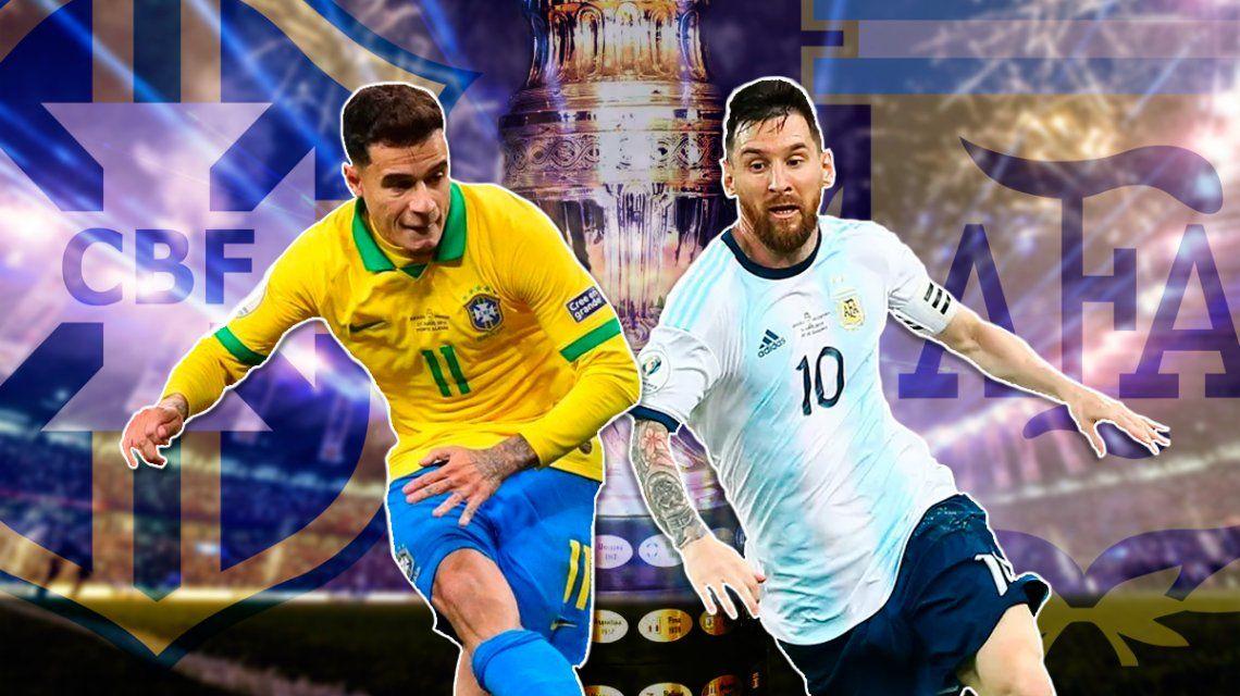 A todo o nada: Argentina va de punto ante Brasil en la semifinal de la Copa América más esperada