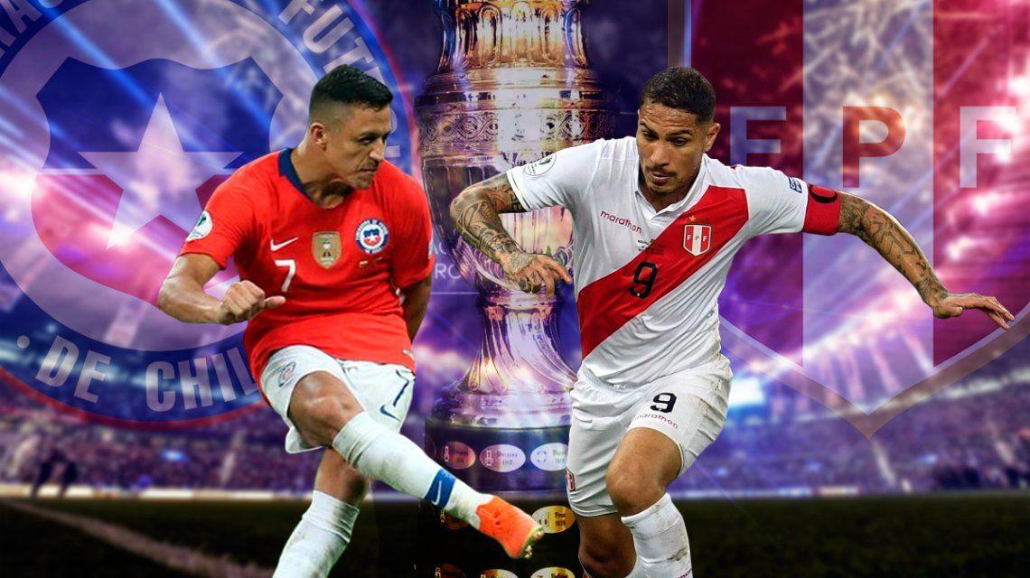 Chile vs Perú por las semifinales de la Copa América: horario, formaciones y TV