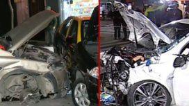 Un policía de la CIudad conducía alcoholizado y provocó un accidente mútiple