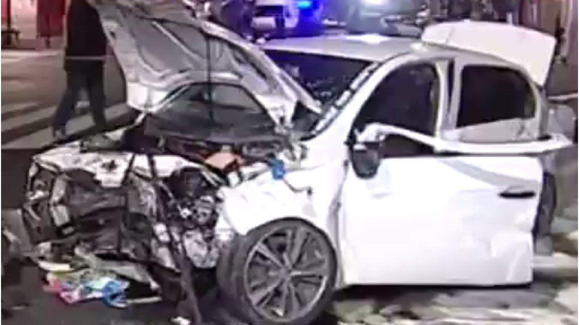 Un policía alcoholizado provocó un choque múltiple en Corrientes y Medrano