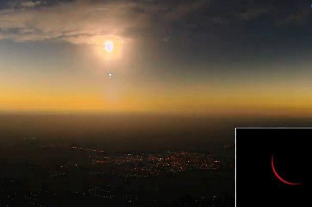 Tras el eclipse total, el Sol volvió a asomar lentamente.