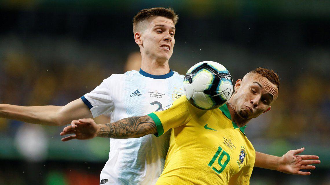 Argentina perdió 2-0 frente a Brasil y se acabó el sueño de la Copa América