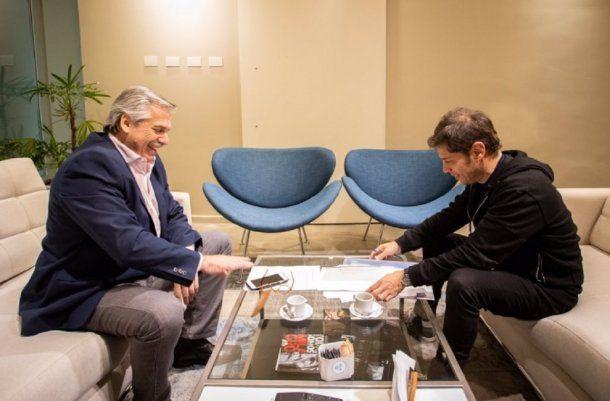 Alberto Fernández y Axel Kicillof -  Crédito: @Kicillofok