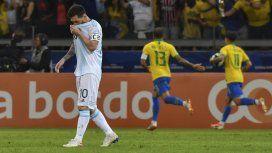 Nueva frustración: Argentina perdió 2-0 frente a Brasil y se acabó el sueño de la Copa América
