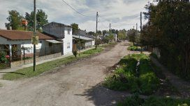 Una esquina del barrio Santa Rosa, en Florencio Varela, cerca de donde se produjo el episodio