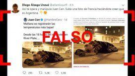 Es falso que Juan Carr mostró una foto de un indigente y afirmó que era en la Argentina