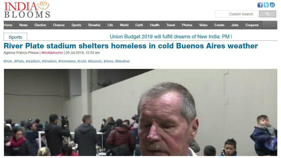 La precaria situación de miles de personas en Buenos Aires llamó la atención hasta en la India