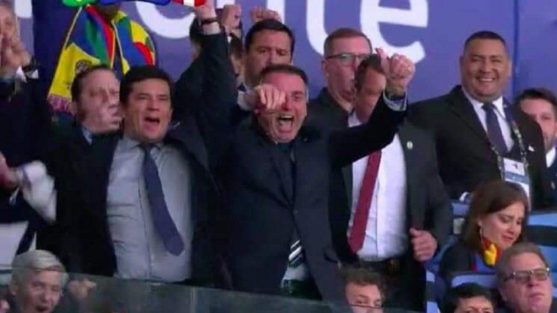 Jair Bolsonaro junto a Alejandro Domínguez
