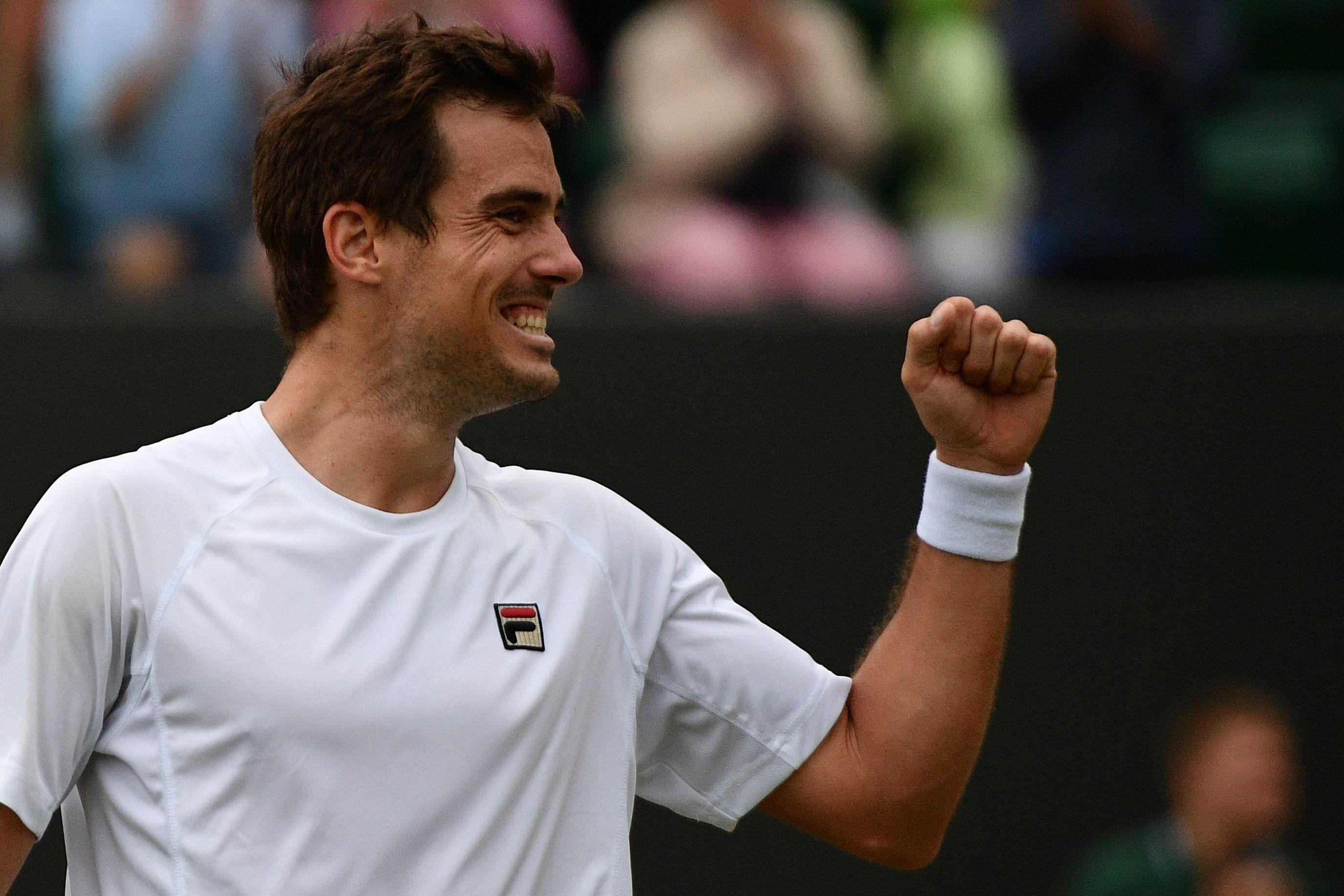 Otro batacazo de Guido Pella en Wimbledon: le ganó a Raonic y pasó a cuartos de final