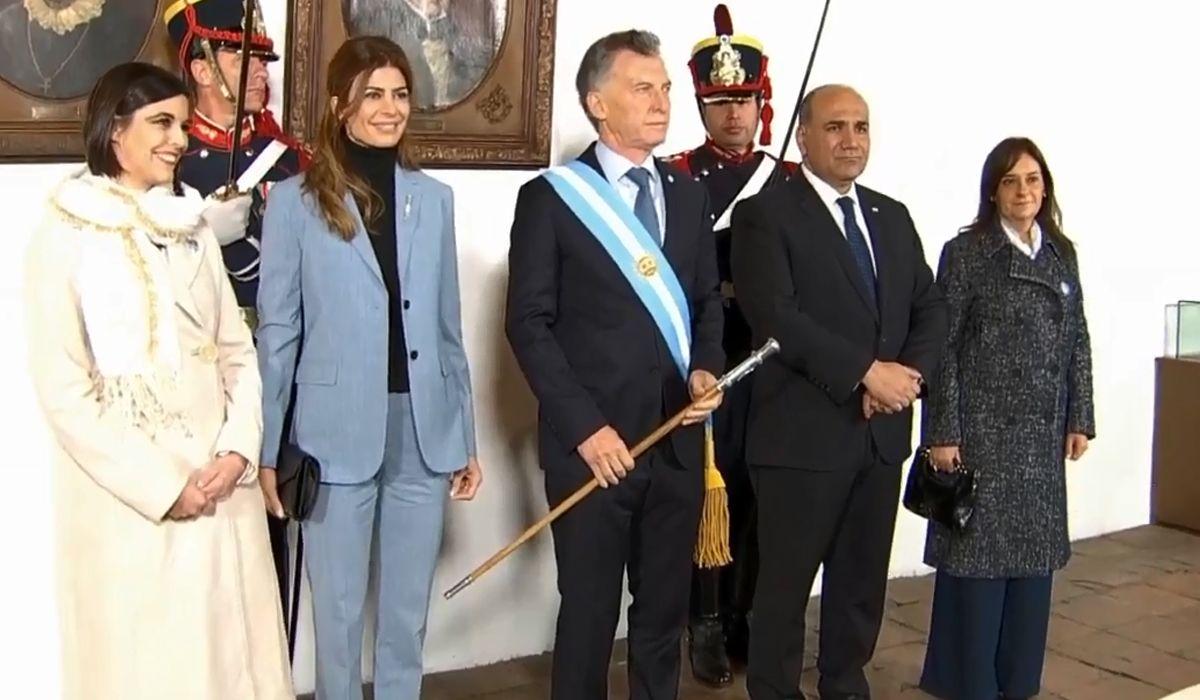 Macri encabezó en la Casa de Tucumán el acto por el 9 de Julio