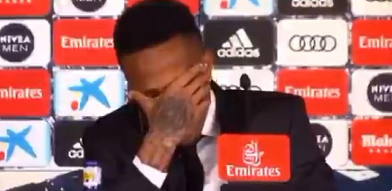 El brasileño Éder Militão se descompensó en su presentación en el Real Madrid