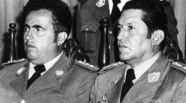 Luis Arce Gómez y Luis García Meza, dos de los condenados