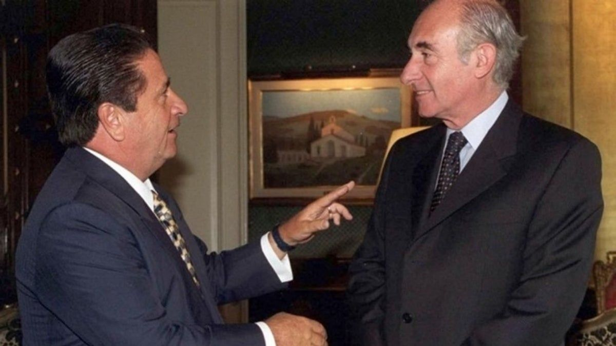Eduardo Duhalde y Fernando de la Rúa