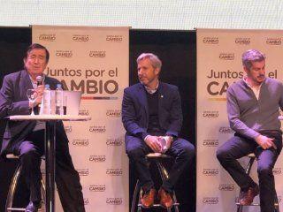 Jaime Durán Barba, Rogelio Frigerio y Marcos Peña