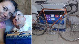 Claudia, su papá José Luis y la bicicleta que buscan con desesperación