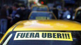 Los taxistas porteños realizan una nueva protesta contra Uber