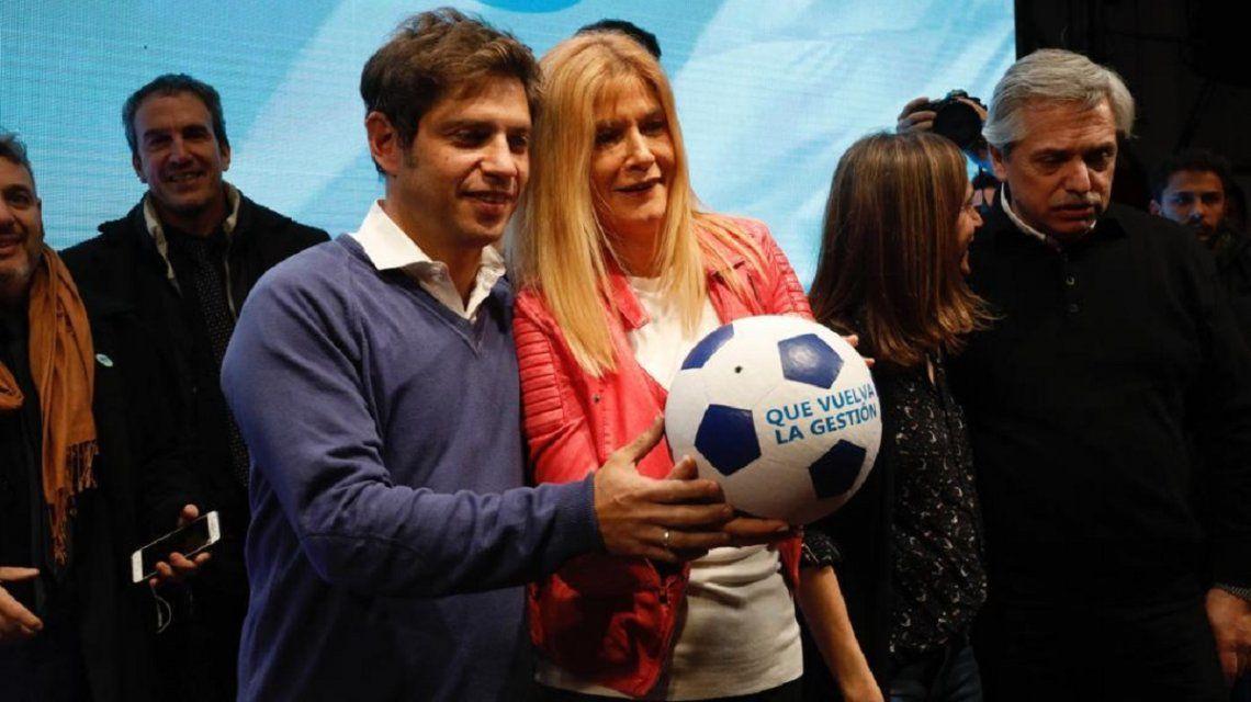 Axel Kicillof y Verónica Magario