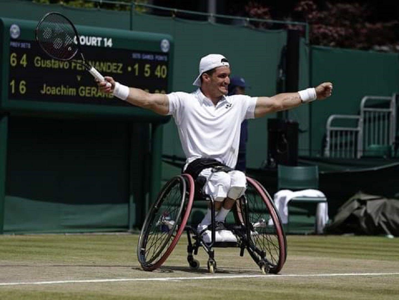 ¡Histórico! Gustavo Fernández se consagró campeón en Wimbledon de tenis adaptado