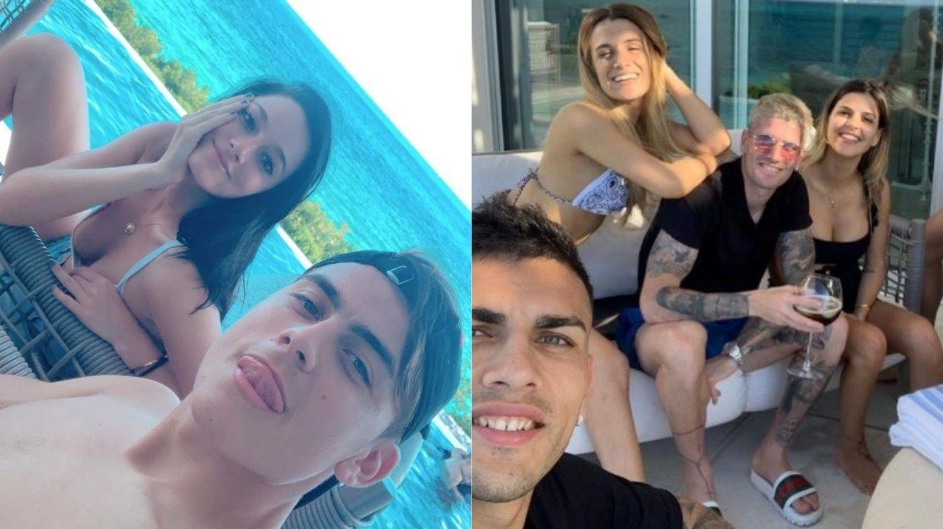 Tragos y pipa: las relajadas vacaciones de Oriana Sabatini y Paulo Dybala con Paredes y De Paul