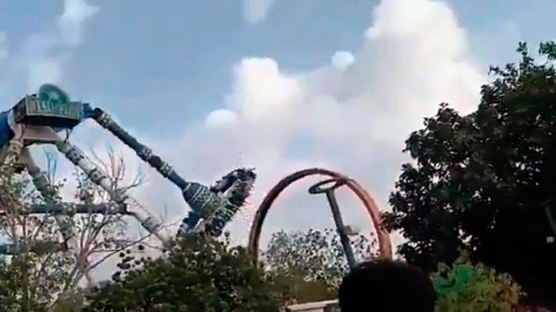 Tragedia en un parque de diversiones en India: se rompió una atracción y murieron dos personas